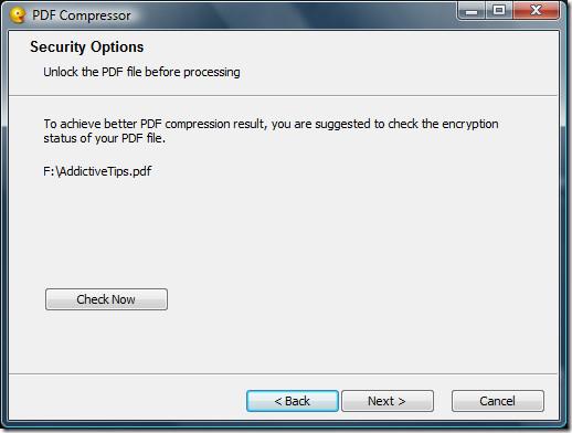 Check PDF Encryption