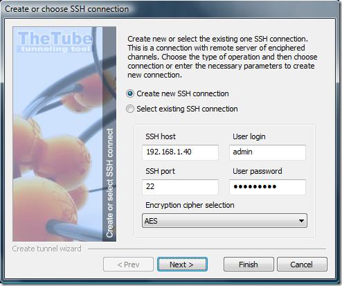 Choose SSH Connection