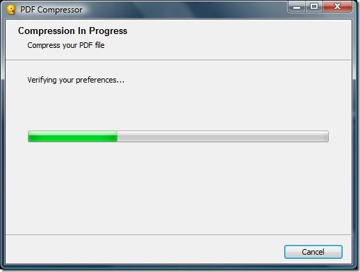 Compressing PDF Document