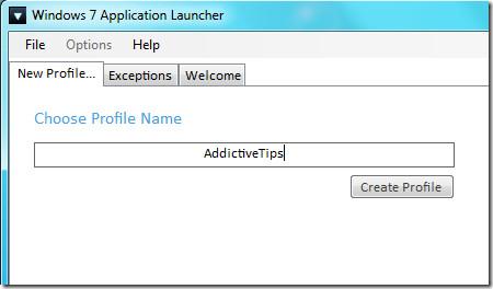 Create New Jumplist Profile