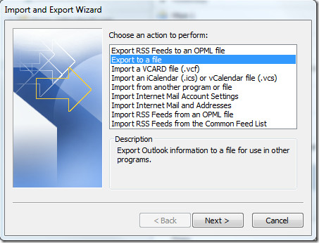 Export And Import Wizard 2