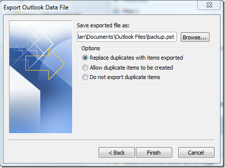 Export Outlook File