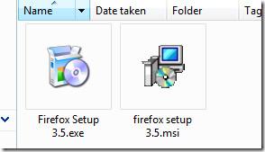 Firefox setup exe to msi