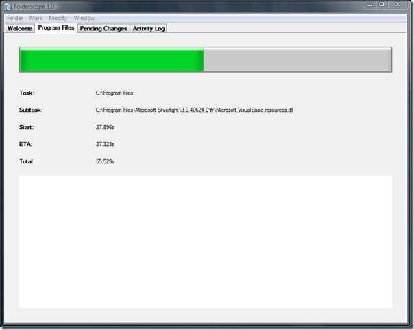 Folderscope loading