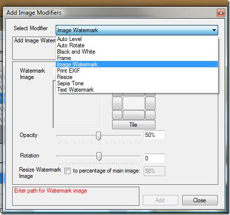 Image Modifiers