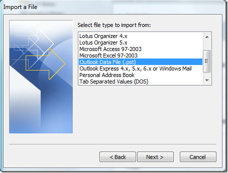Import A File
