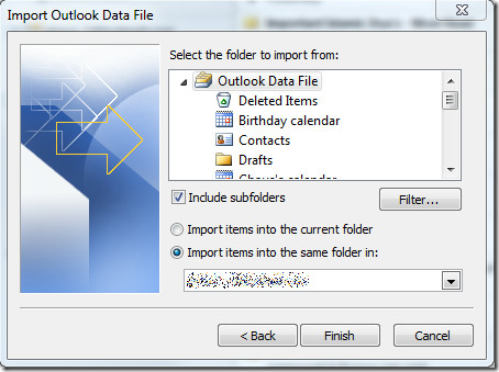 Import Outlook File