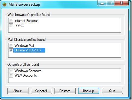 MailBrowser Outlook 2010 Backup
