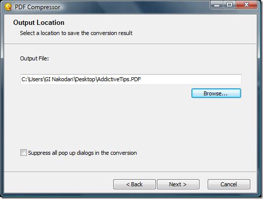 PDF Compress Output