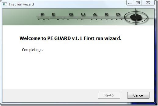 PE Guard First Run Wizard