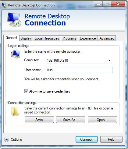 Remote Desktop Connections