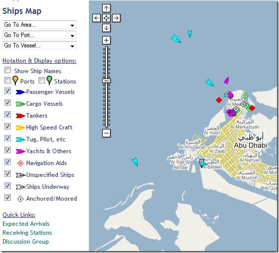 Ships map