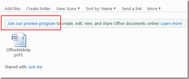 Skydrive Document