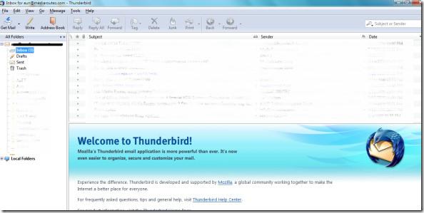 Thunderbird configured