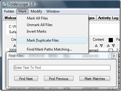folderscope search files