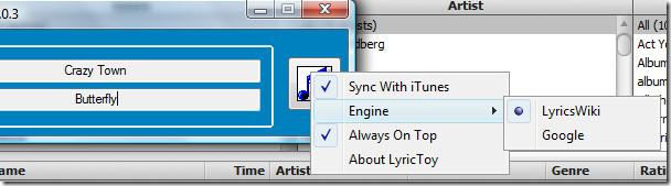 lyrictoy options