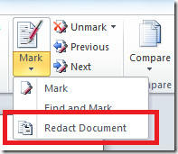 redact word document