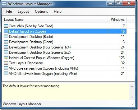 windows layout manager