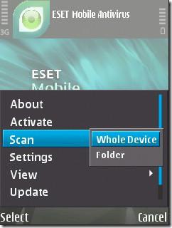 ESET Mobile Symbian Scan