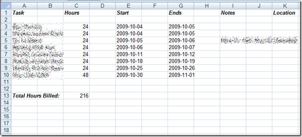Excel google calendar