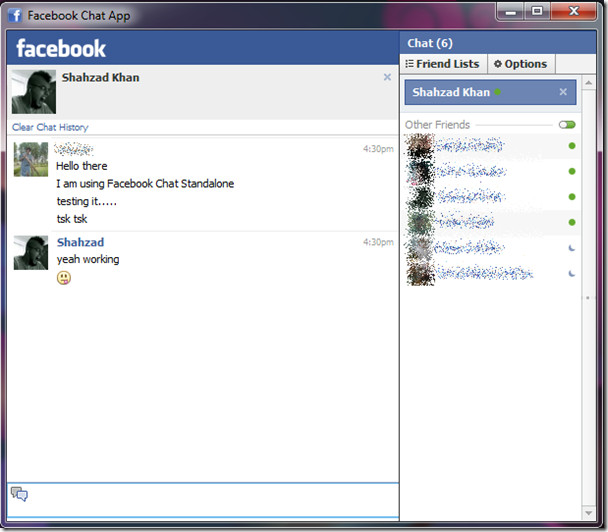 Facebook Chat Standalone