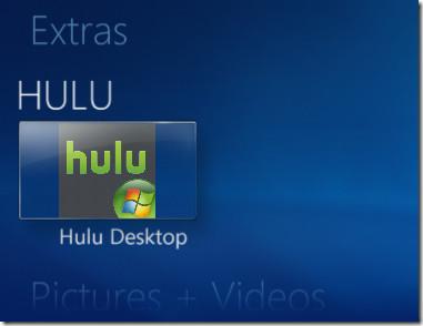 Hulu Desktop Windows 7 Media Center