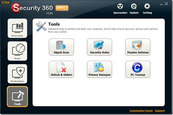 IObit Security 360 Tools