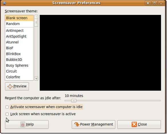 ScreenSaver Preferences