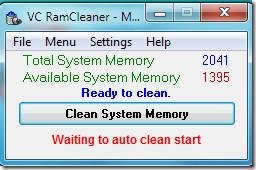 VCRAM Cleaner Main