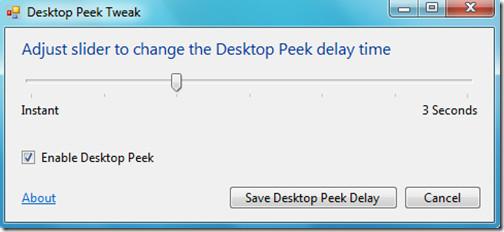 Desktop Peek Tweak