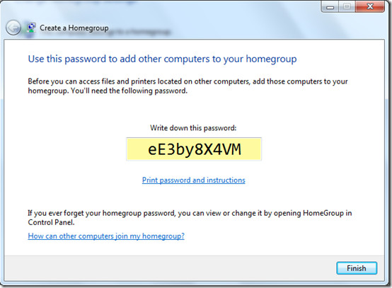 Home Group Password