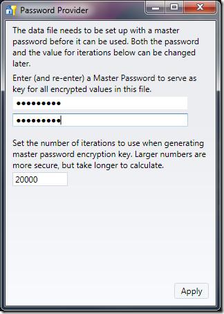 Password Provider security