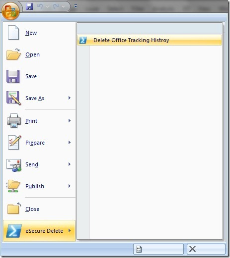 esecure delete office 2010