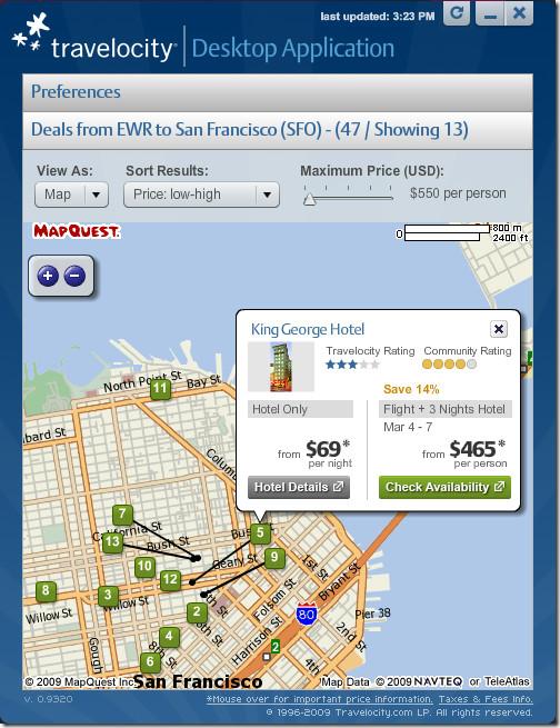 hotel deals map