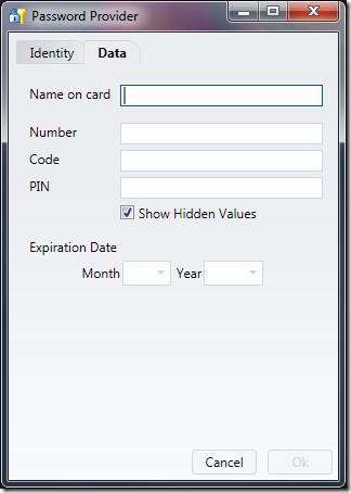 password provider data