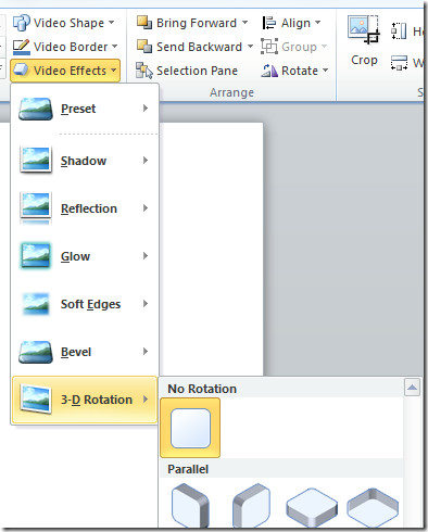 powerpoint 2010 video effects