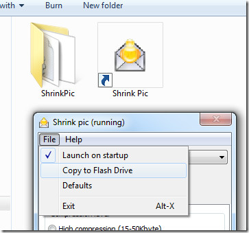 Copy Image Resizer to flash drive