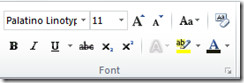 Fonts Word 2010