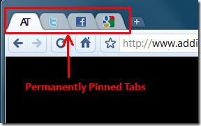 Google Chrome Pinned tabs