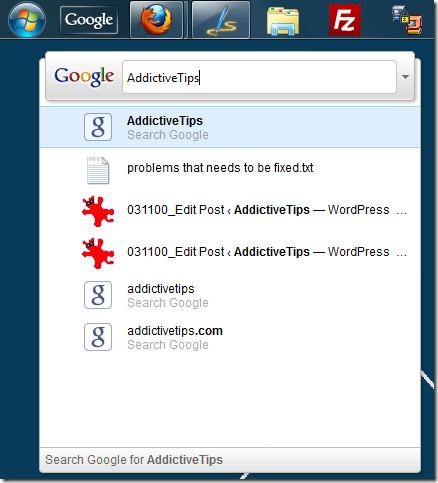 Google Quick Search Box Windows 7