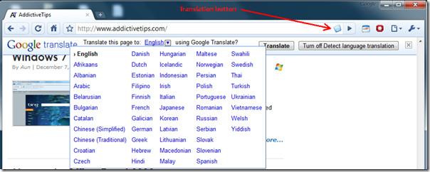 Google Translate Bar