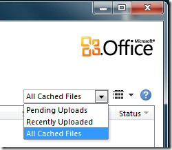 Office 2010 Upload Center Cached Files