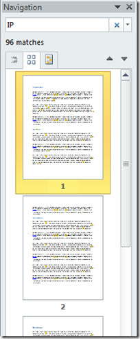 Page View Word 2010