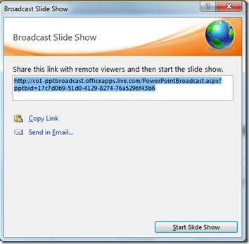 Shar Link PowerPoint Broadcast