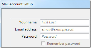 Thunderbird 3 mail account setup