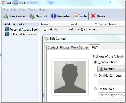 Thunderbird Address Book
