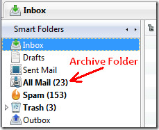 Thunderbird Archive folder