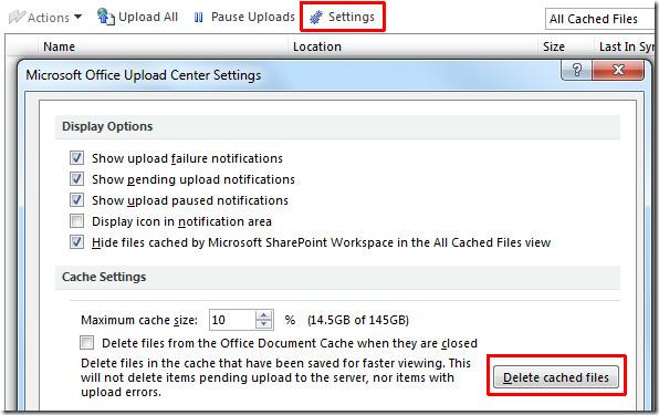 Upload Center Settings