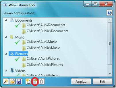 Windows 7 Library Properties