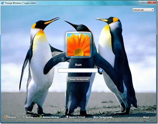 Windows 7 Logon Screen Changer